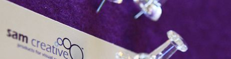 Perfekt lila, weißes Profil